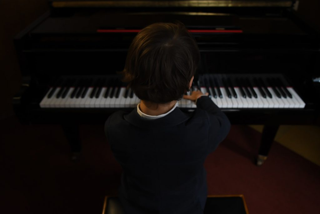 Boy on piano